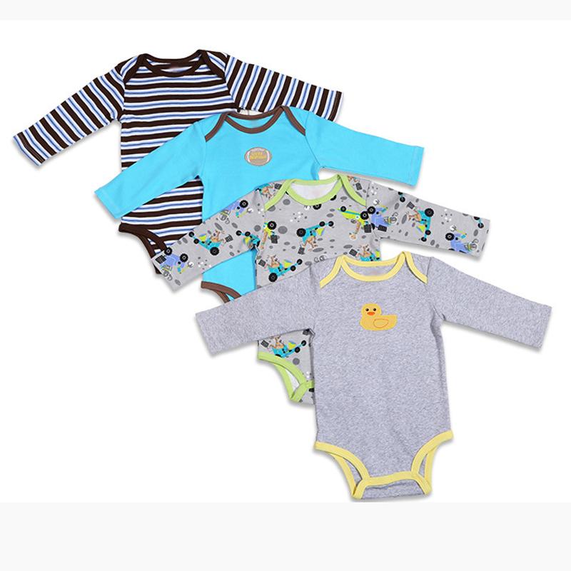 3\4\5PCS carter BABY BODYSUITS 100%Cotton Infant Body Bebes Long Sleeve Clothing Jumpsuit Printed Baby Boy Girl Bodysuits(China (Mainland))