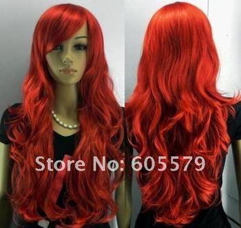 New Long Red Curly Hair Women's Full Wig  2014 dfvbr