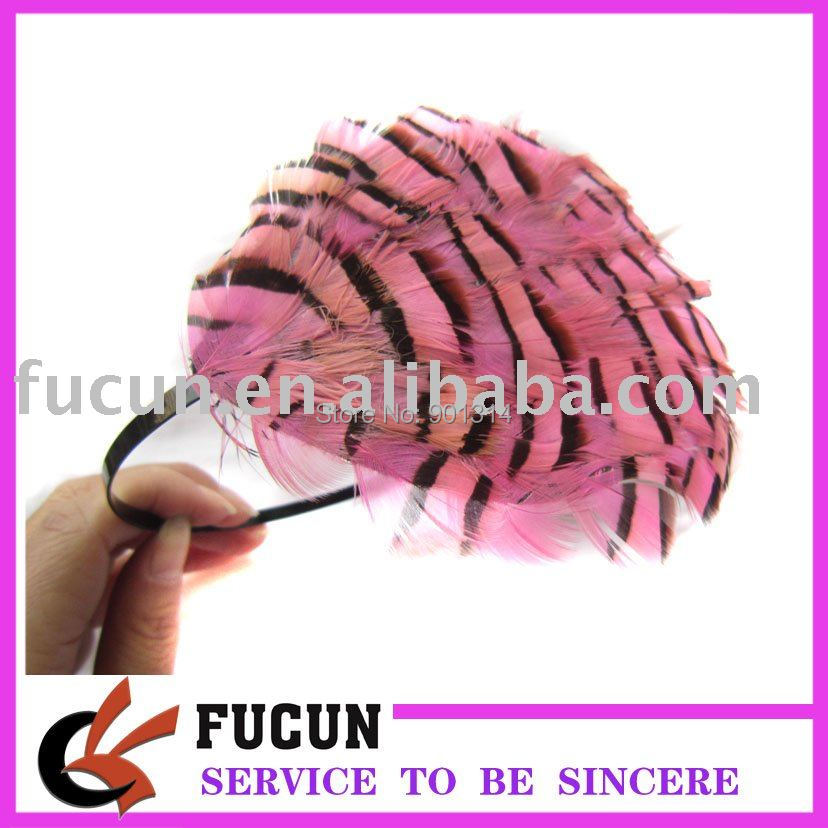 Hot sale pink feather headband for women and kids free shipping way(China (Mainland))
