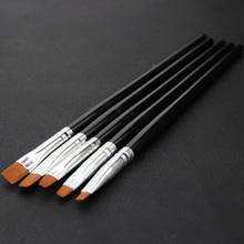 1pcs New Flat Sable Nail Pen Brush Art Paint Dot Detailed Tool Rhinestone Decoration(China (Mainland))