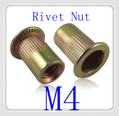 1000PCS/LOT M4 Countersunk Steel With Color Znic Rivet Nut kit Rivnut Insert Nuts blind nut fastener set<br><br>Aliexpress