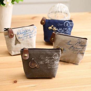 women canvas coin purse cute Vintage Wallets Storage bags monederos Card bags bolsas carteira feminina