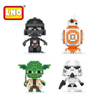 Buy LNO Blocks Star Wars Yoda Darth Vader Action Figures DIY Model Building Bricks Stormtrooper 3D Star Wars Toys Boys Kids. for $3.14 in AliExpress store