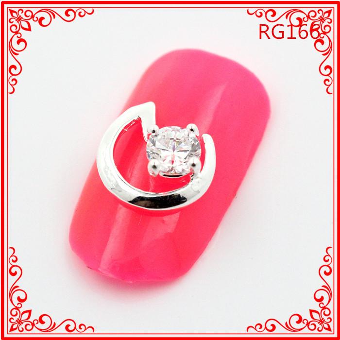 30PCS/LOT RG166 Simple Design New 3D Japanese Nail Art Jewelry Crystal Rhinestone Decoration(China (Mainland))