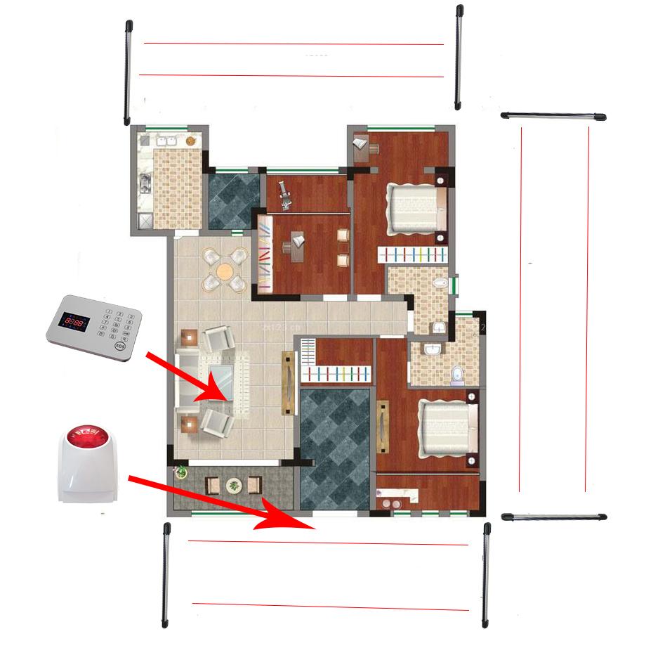 online kaufen gro handel haus zaun alarm aus china haus. Black Bedroom Furniture Sets. Home Design Ideas