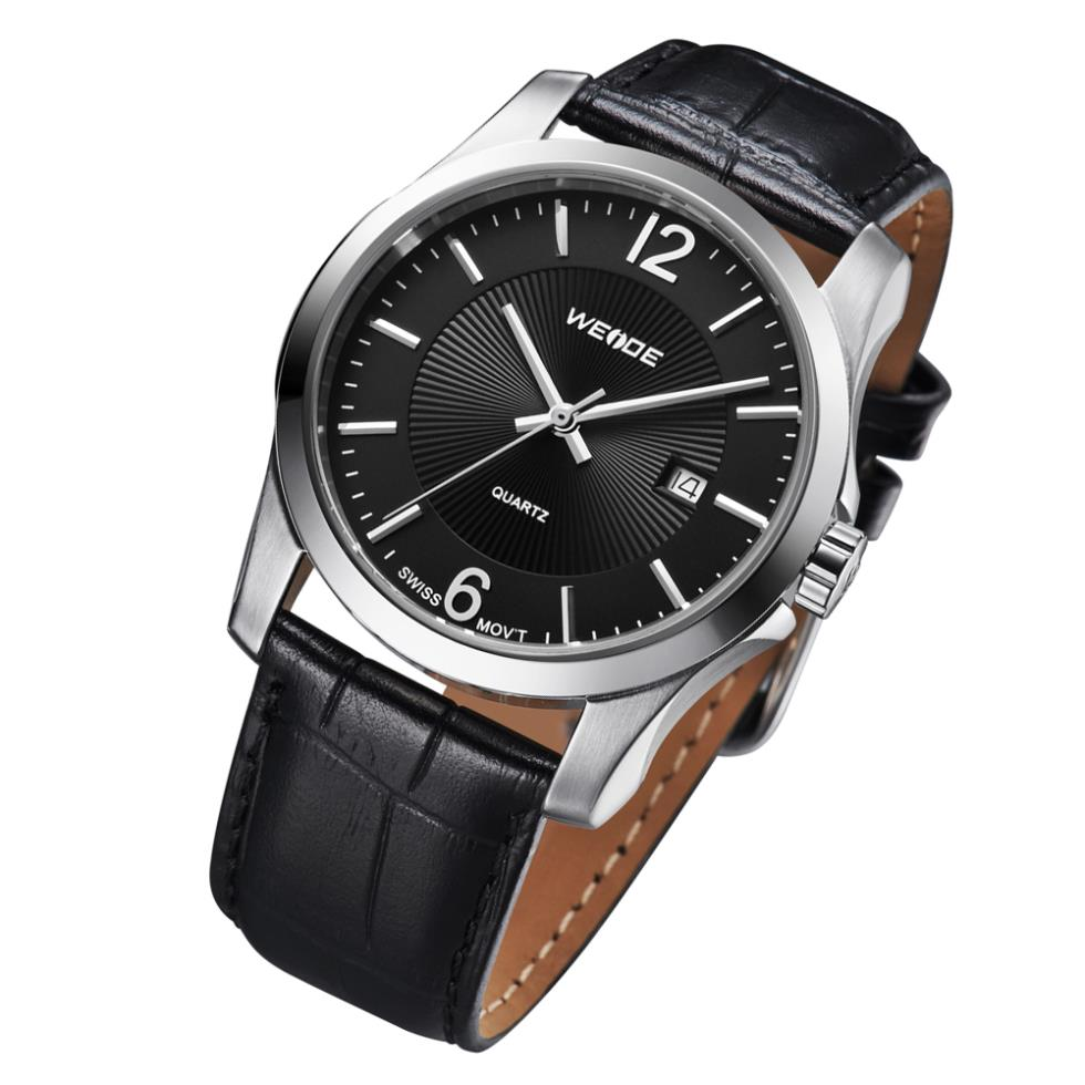 !WEIDE Famous Brand Men Genuine Leather Strap Watches Fashion Casual Relogio Military Wristwatch - The global digital tesco store