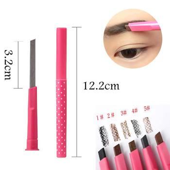 1pcs Women Ladies Waterproof Longlasting Brown Eyebrow Pencil Brow Eye Liner Pen Makeup Cosmetic Beauty Tools maquillage