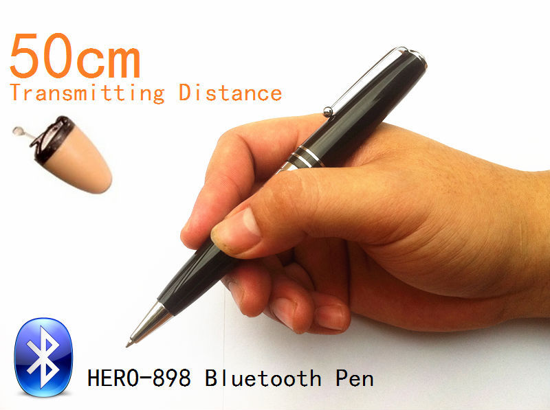 2014 NEW Bluetooth Pen HERO-898 With Spy Earpiece 50-60cm Long Transmitting Distance Can Work during Writing(China (Mainland))