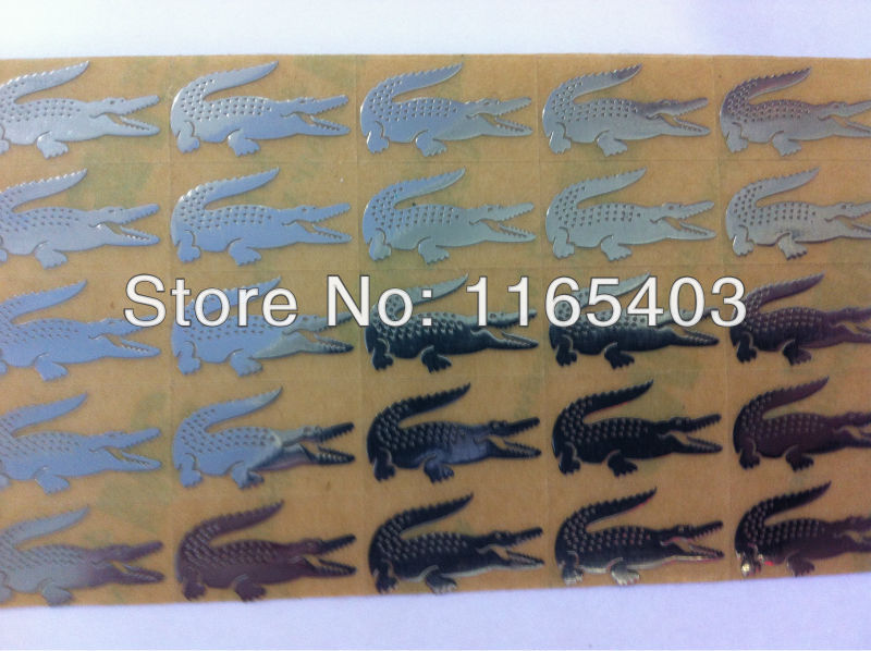 Metal label (silver)The crocodile pattern Art words Fashion has a personality 1.8cm*1cm1000pcs(China (Mainland))