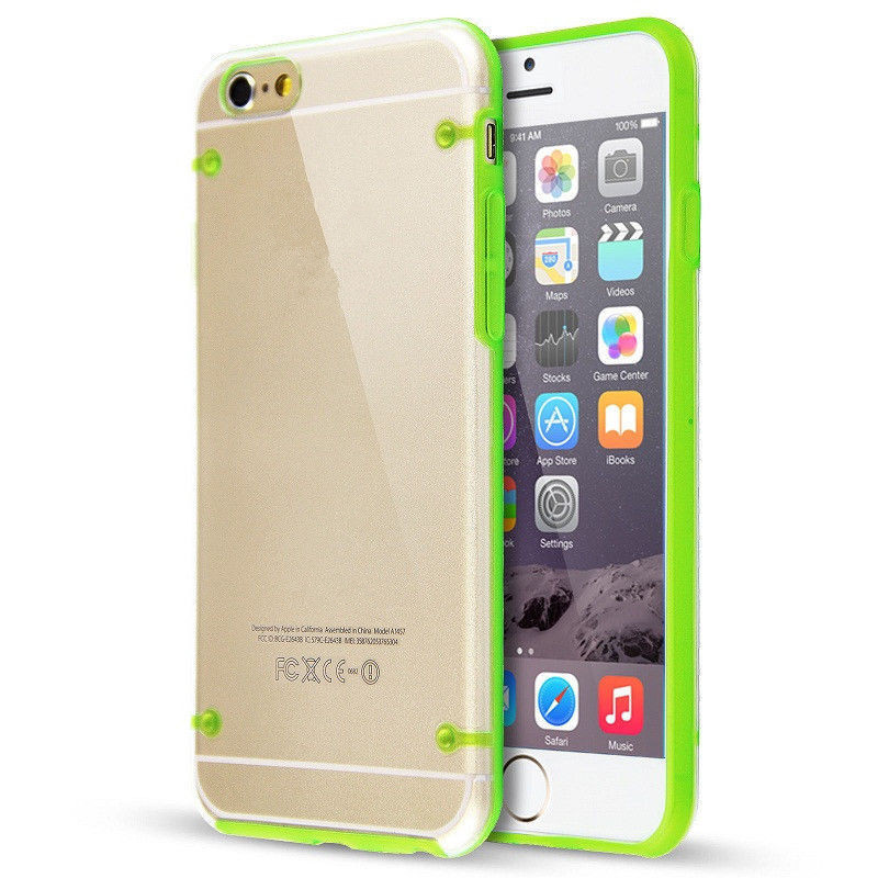 New Arrival Glow In The Dark Night Luminous Soft Transparent Back Case Cover Bags For iPhone 5c 5s 6s Cell Phone Protective