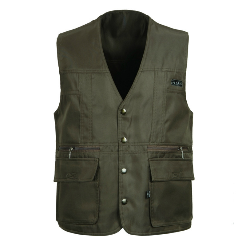 SHOWERSMILE Brand Mens Outerwear Vests Photography Field Cheap Waistcoat Casual Travel Gilet With Many Pockets Army Green Jacket(China (Mainland))