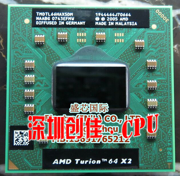 Shipping free AMD cpu laptop Turion TL-66 CPU 1M Cache/2.3GHz/Socket S1/Dual-Core Laptop processor tl66 TL 66(China (Mainland))