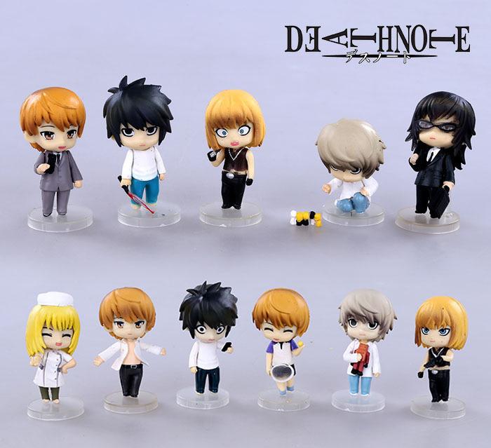 11pcs/lot 7CM Death Note Yagami Raito Q Version PVC Figure Toys action figure set kids toys for boys(China (Mainland))