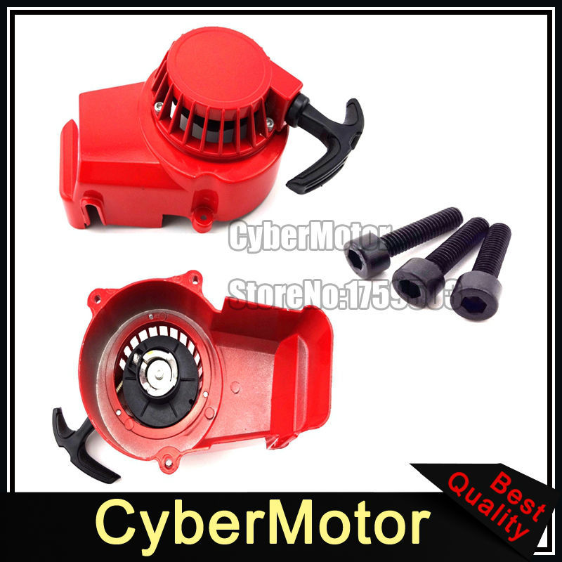 Red Recoil Pull Start Starter For Chinese 2 Stroke 47cc 49cc Engine Pocket Bike Mini Moto Dirt Bike Kids ATV Quad Four Wheeler(China (Mainland))