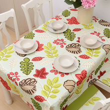 90x90cm 140x220cm thick cotton green table cloth dustproof home textile square rectangular table cover(China (Mainland))