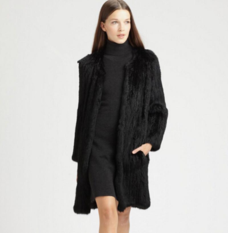 Оптовые Продажи Женщин 2014 Натурального Кроличьего Меха Пальто Долго Дизайн Горячего Натурального Меха Натуральный Мех Пальто Куртки Большого Размера