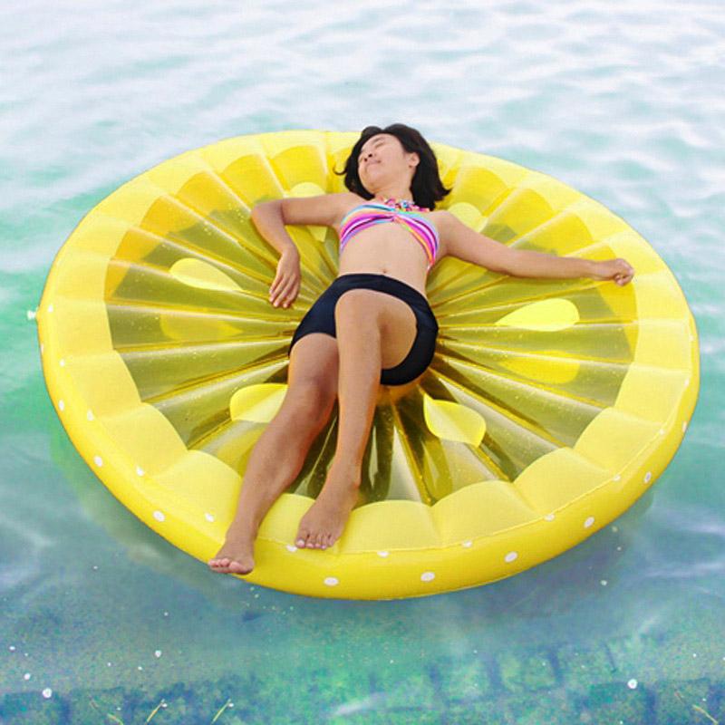 New Design Lightweight Swimming Air Mat Watermelon Inflatable Raft Tube Beach Water Float Creative Funny Fruit Shape Swim Rings(China (Mainland))