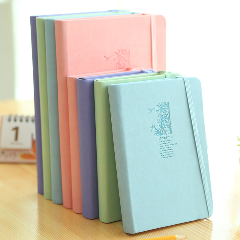 Sweet Macarons Color Notebook bandage leather business notebooks diary book School and Office 108sheets<br><br>Aliexpress