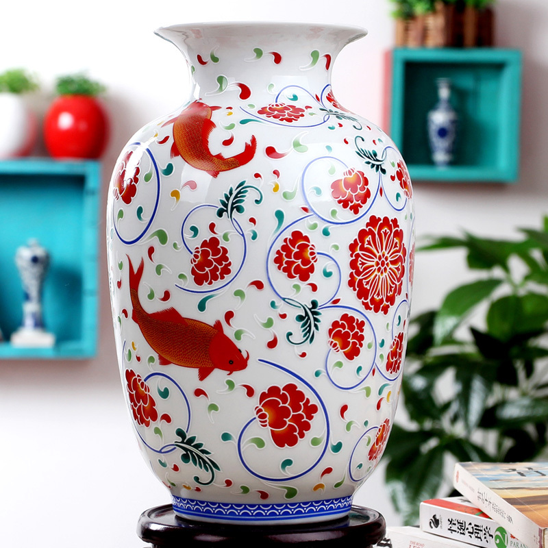 Bone China Palace Restoring Ancient Ways Jingdezhen noctilucence Ceramic Vase For Artificial Flower Decoration Vases(China (Mainland))