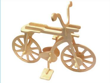 Children's educational toys Wooden Bike model 3D stereoscopic jigsaw puzzle wooden children DIY handmade toys creative gifts(China (Mainland))