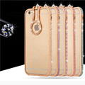 Metal Bumper for Iphone 7 Case 7 Plus Bling Bling Finger Ring Holder Stand for Iphone