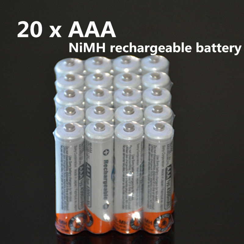 20Pcs/Lot Original Brand New NI-MH AAA HR03 3A Rechargeable Batteries 1.2V 4300 For Rechargeable Battery Free Shipping(China (Mainland))