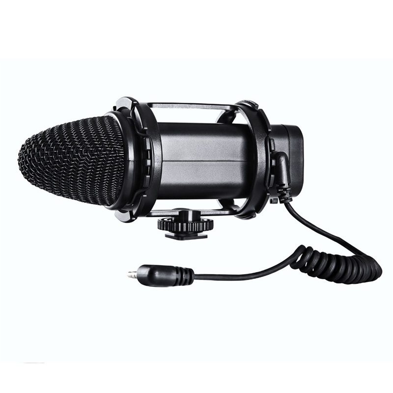 Фотография BOYA BY-V02 Stereo Condenser Microphone with Windshield for DSLR Cameras Camcorders Video Shooting and Audio Recorders