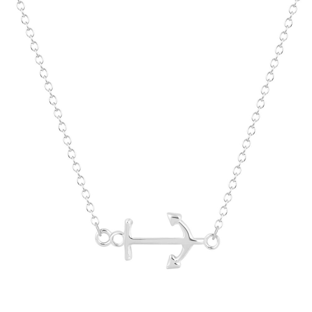 One piece cute and lovely trendy simple anchor necklace for Cute jewelry for girlfriend
