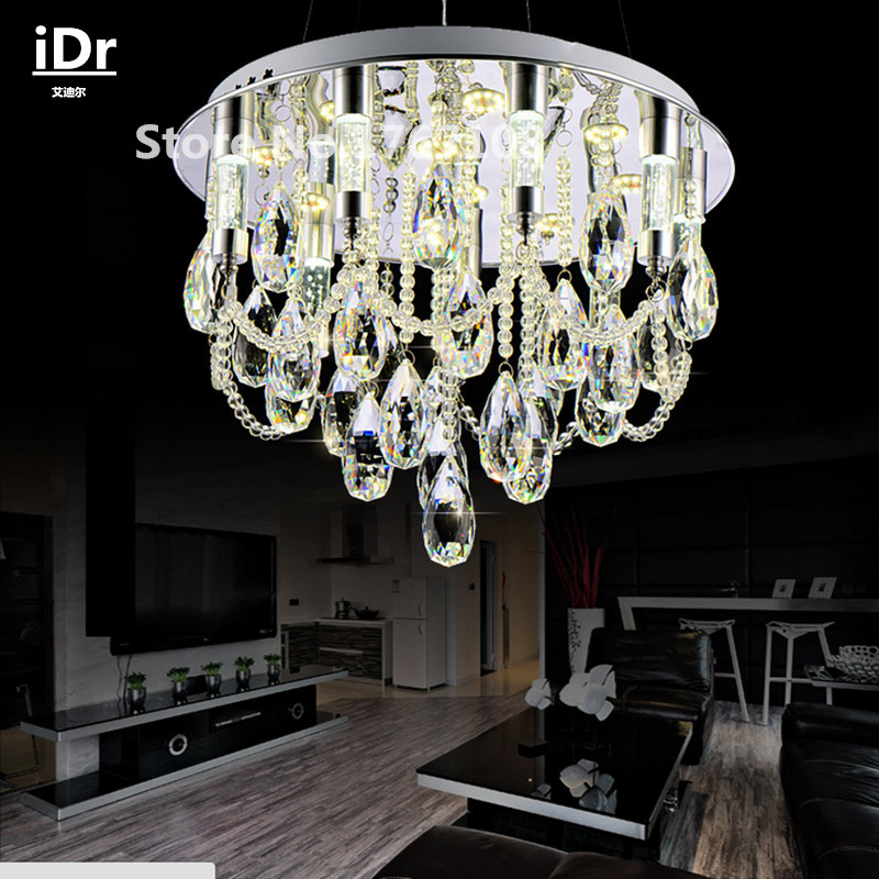 modern crystal chandelier crystal lamp bedroom living room