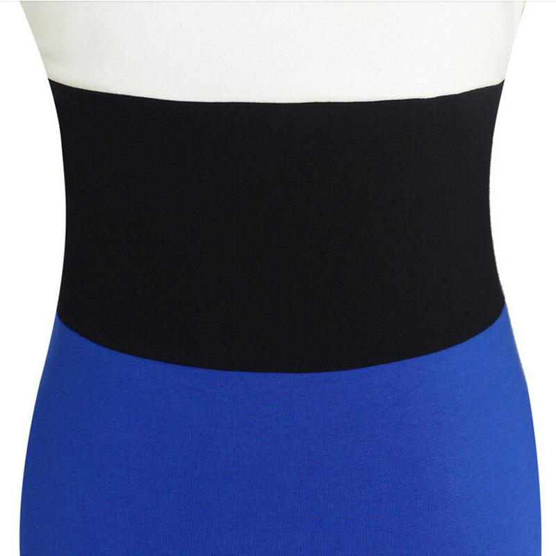Winter Fashion Bodycon Dress Stitching Long Sleeve Dresses Party Dress Pencil Slim Elegant Workwear Plus Size Vestidos