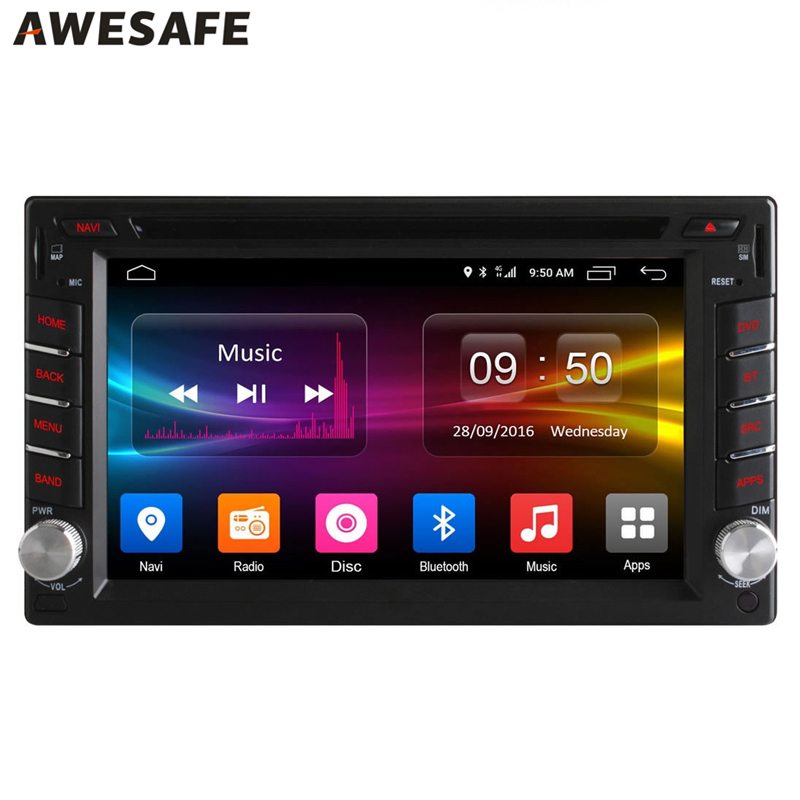 2 din 4G LTE Universal multimedia Car DVD Player Radio receiver for Rav4 2005 Android 6.0 Toyota Bluetooth with GPS Quad Core(China (Mainland))