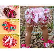 2016 Newborn Baby Girl Infant Bloomers Satin Bowknot Kids Boy Lace cakes Short Pants Diaper Cover