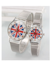 2015 Free Shipping New Accessories Fashion Union Jack Watch For Women White colors Fashion Jewelry For Lady Gift YS038
