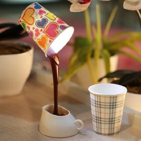 New DIY LED Night light Table Lamp Home Decoration Romantic Coffee Promotion Christmas Gifts light USB or Battery free shipping(China (Mainland))
