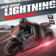 RC Motorcycle 2.4G high speed motorcycle Inclining 45 Degree Flash Light Red Green Color Remote Control Motorbike(China (Mainland))