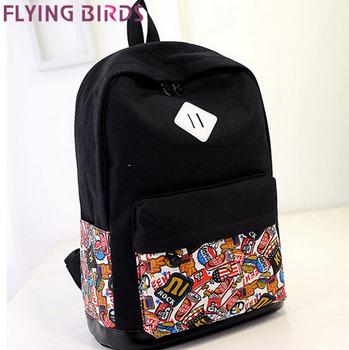 FLYING BIRDS! famous brands women backpack women travel bags pouch 2015 school bags backpacks student rucksack LS4125fb