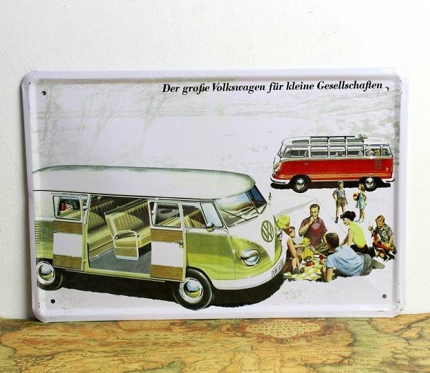 Volkswagen Green bus Car style Tin poster car sign Home Club Bar wholesale 8x12 inch (20x30cm) 50pcs/lot CA22(China (Mainland))