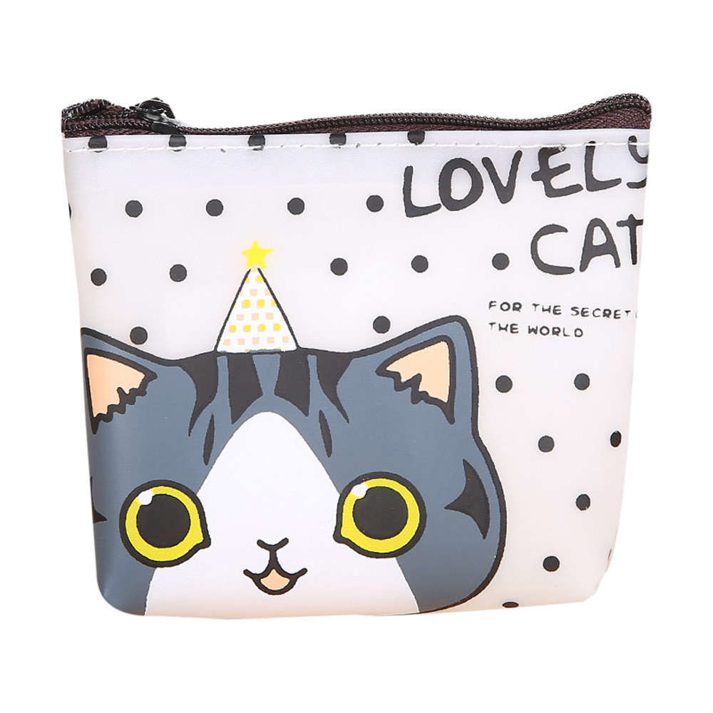 2016 New Brand Women Girls Cute Cat Fashion Coin Purse Silicon Wallet Bag Change Pouch Key Holder Perfect Gift Free Shipping(China (Mainland))