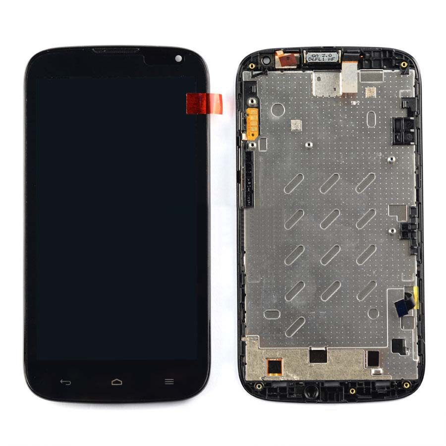 +Frame Black LCD Display + Touch Screen Digitizer Assembly Replacement For Huawei Ascend G610 Free Shipping