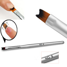 1Pc Acrylic Painting Drawing French Manicure Pen Brush Design Nail Art Tool Hot(China (Mainland))