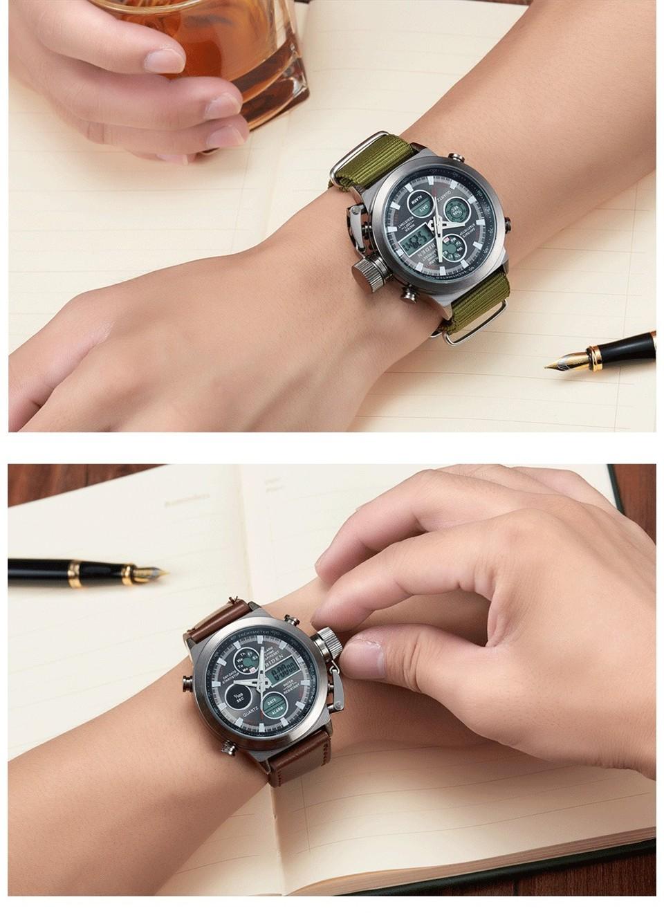 Watches Men's Luxury Brand BIDEN Dive LED Digital Watches Sport Military Genuine Quartz Watch Men Relogio Masculino reloj hombre