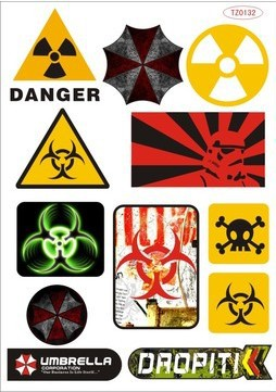 Reomovable Warning Signs Stickers For Ipad Laptop skins Tablet PC stickers Motorcycle Waterproof Sunscreen PVC Car Stickers<br><br>Aliexpress