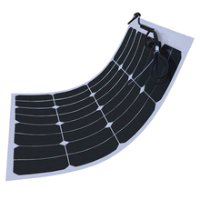 50W 18V Sunpower Semi Flexible Solar Panel Maxeon C60 21.8% High Efficiency Solar cell Charge for 12V Battery(China (Mainland))
