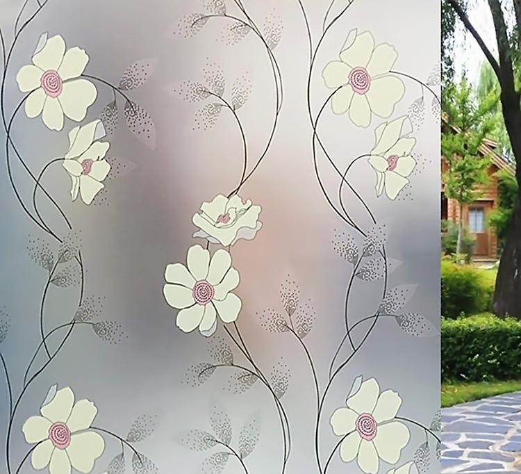 Stainded Glass Window Film colours self adhesive decorative frosted privacy Decals 9803 Width 60cm/75cm/85cm*300cm(China (Mainland))