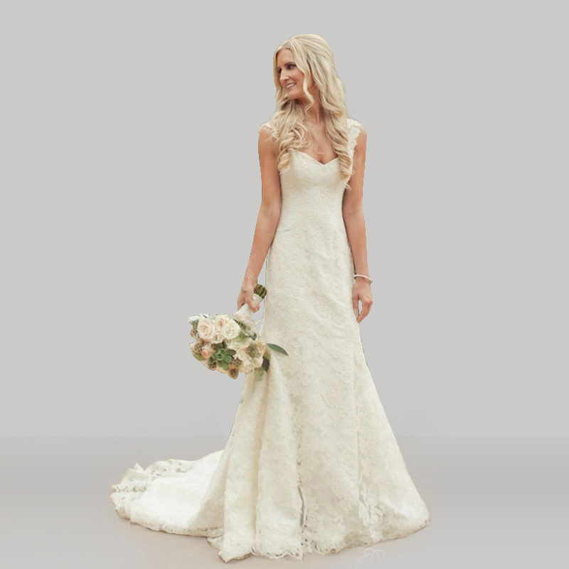 Lace Wedding Dress With Cap Sleeves Style D1919 : Country style vintage lace mermaid wedding dresses cap sleeves