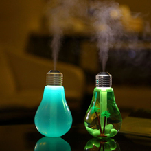 USB ultrasonic humidifier home office Mini aromatherapy colorful LED night light bulb aromatherapy atomizer creative bottle(China (Mainland))
