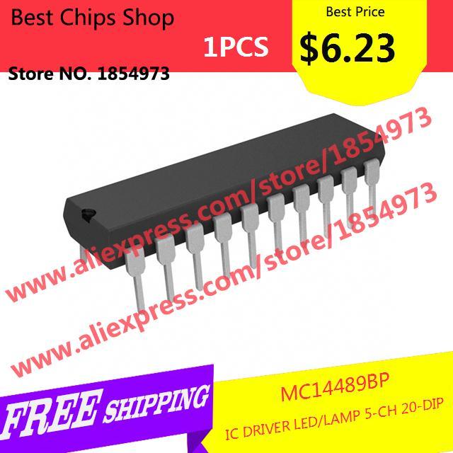 Free Shipping 1PCS=$6.23 Integrated Circuit MC14489BP IC DRIVER LED/LAMP 5-CH 20-DIP 14489 MC14489(China (Mainland))