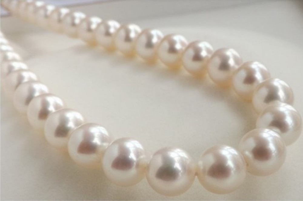 Free Shipping ***Hot sale &gt;&gt;&gt;14K AAAA 10-11MM PERFECT ROUND SOUTH SEA GENUINE WHITE PEARL NECKLACE 18<br><br>Aliexpress