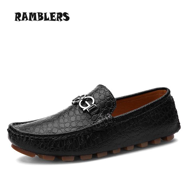 Мужская свободного покроя мягкая кожа квартиры обувь для мужчин бездельников туфли-бизнес ...