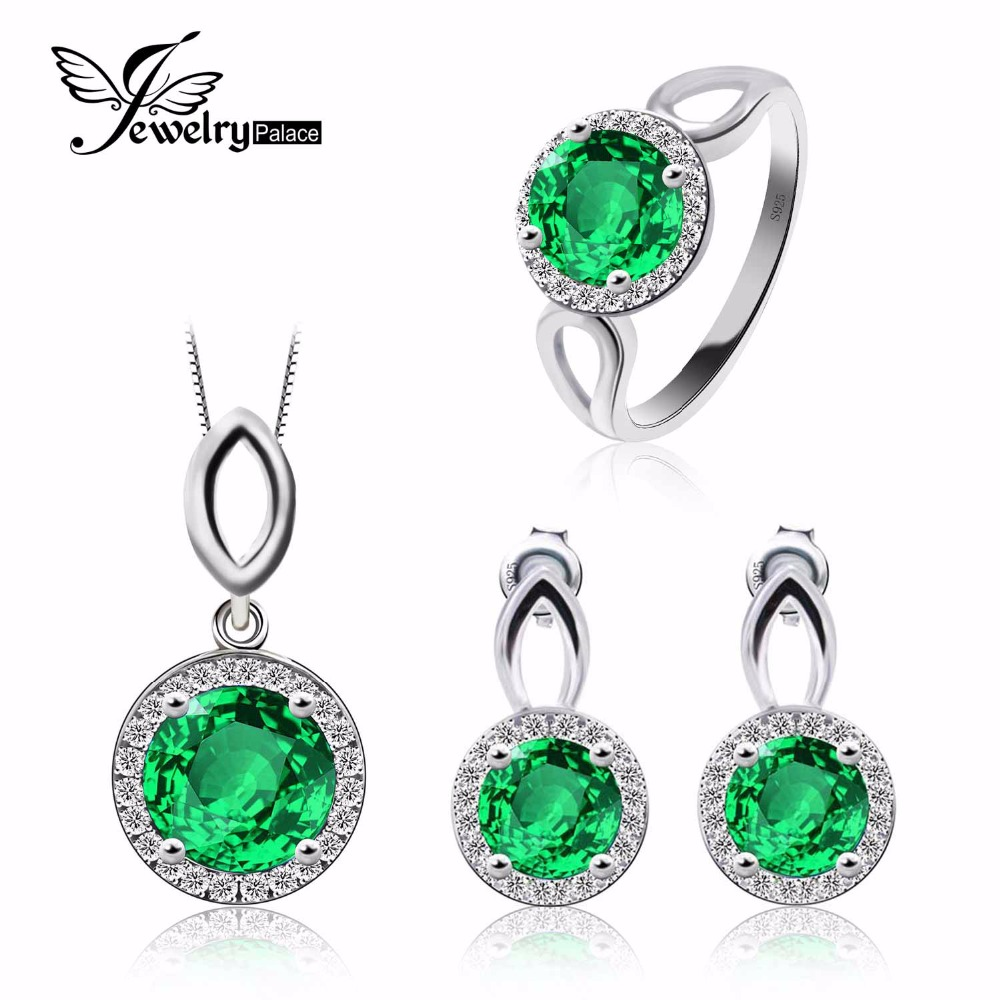 Emerald jewelry for mothers Green Nano Russian Emerald 925 Sterling Silver Ring Pendant Earring Stud wisdom growth patience(China (Mainland))